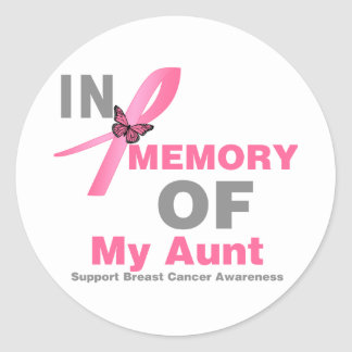 Breast Cancer In Memory of My Aunt Sticker