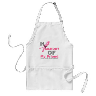 Breast Cancer In Memory of My Friend Adult Apron
