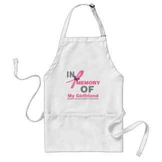 Breast Cancer In Memory of My Girlfriend Standard Apron