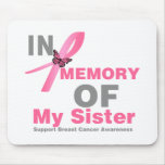 Breast Cancer In Memory of My Sister Mouse Mats