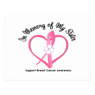 Breast Cancer In Memory of My Sister Post Cards