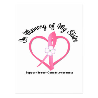 Breast Cancer In Memory of My Sister Postcard