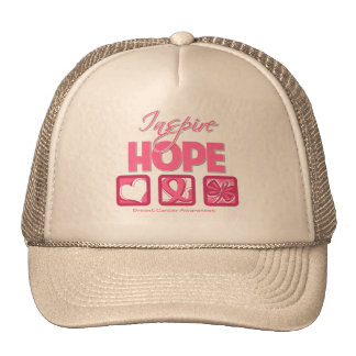 Breast Cancer Inspire Hope Mesh Hat
