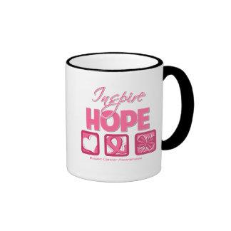 Breast Cancer Inspire Hope Coffee Mugs