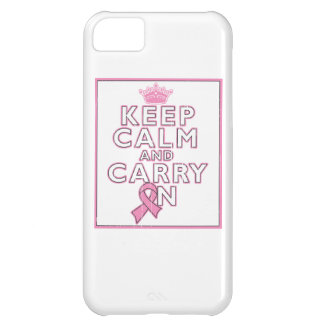 Breast Cancer Keep Calm and Carry On Cover For iPhone 5C