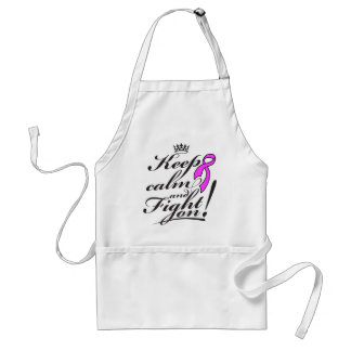 Breast Cancer Keep Calm and Fight On Standard Apron