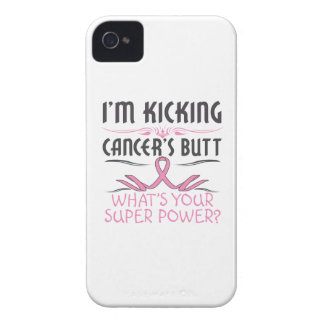 Breast Cancer Kicking Cancer Butt Super Power iPhone 4 Case