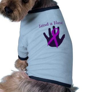 Breast Cancer - Lend a Hand Pet T Shirt