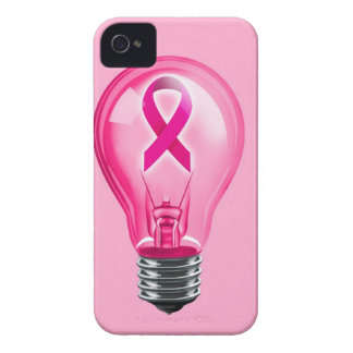 Breast Cancer Lightbulb iPhone 4 Case-Mate Cases