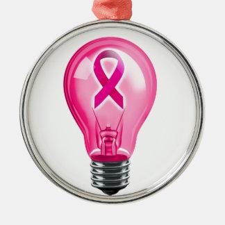 Breast Cancer Lightbulb Christmas Ornament