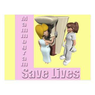 Breast Cancer Mammogram Post Card