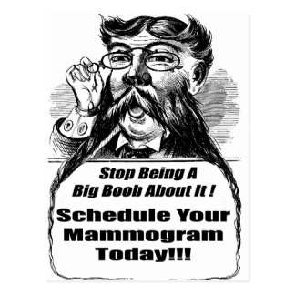 Breast Cancer Mammograms Postcard
