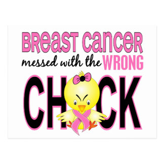 Breast Cancer Messed With Wrong Chick Postcard