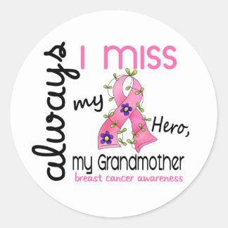 Breast Cancer Miss My Grandmother 3 Round Sticker