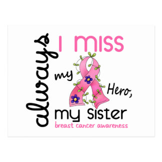 Breast Cancer Miss My Sister 3 Post Cards
