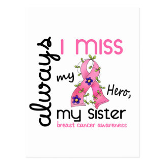 Breast Cancer Miss My Sister 3 Postcard