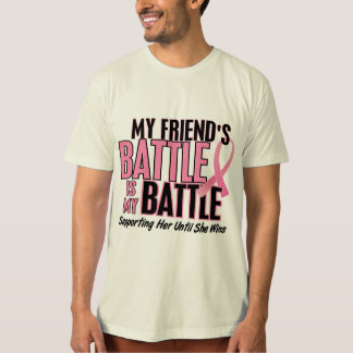 Breast Cancer My BATTLE TOO 1 Friend T-Shirt