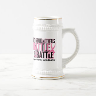 Breast Cancer My BATTLE TOO 1 Grandmother Beer Steins