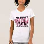 Breast Cancer My BATTLE TOO 1 Mum Tees