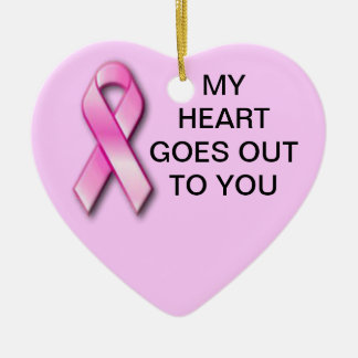 Breast Cancer My Heart Christmas Ornament