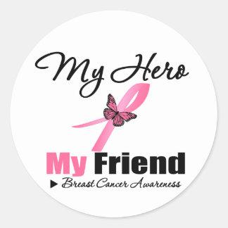 Breast Cancer My Hero My Friend Stickers