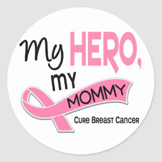 Breast Cancer MY HERO MY MOMMY 42 Sticker