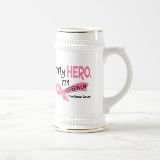 Breast Cancer MY HERO MY MOTHER-IN-LAW 42 Coffee Mugs