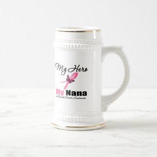 Breast Cancer My Hero My Nana Mugs