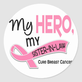 Breast Cancer MY HERO, MY SISTER-IN-LAW 42 Stickers