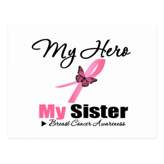 Breast Cancer My Hero My Sister Postcard