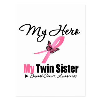 Breast Cancer My Hero My Twin Sister Postcard