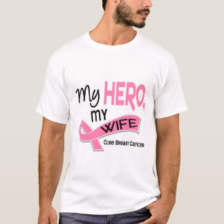 Breast Cancer MY HERO, MY WIFE 42 T-Shirt