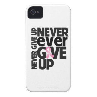 Breast Cancer Never Ever Give Up iPhone 4 Cover