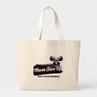 Breast Cancer Never Give Up Butterfly Bag