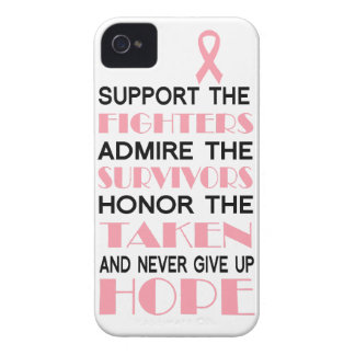 Breast Cancer Never Give Up Hope Phone Case Case-Mate iPhone 4 Cases