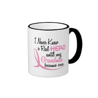 BREAST CANCER Never Knew A Hero 3 Grandma Mugs