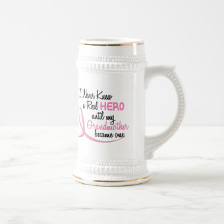 BREAST CANCER Never Knew A Real Hero 3 Grandmother Mugs