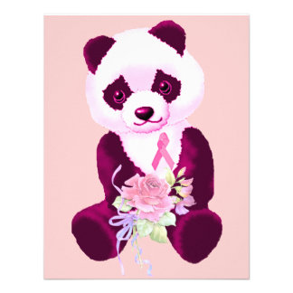 Breast Cancer Panda Bear Custom Announcement
