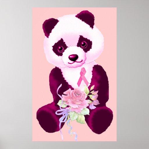 Breast Cancer Panda Bear Posters