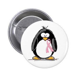 Breast Cancer Penguin 6 Cm Round Badge