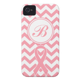 Breast Cancer Pink Chevron customizable Phone Case Case-Mate iPhone 4 Cases
