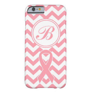 Breast Cancer Pink Chevron personalize Phone Case Barely There iPhone 6 Case
