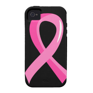Breast Cancer Pink Ribbon 3 Vibe iPhone 4 Covers