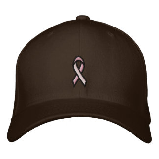 Breast Cancer Pink Ribbon Embroidered Baseball Cap