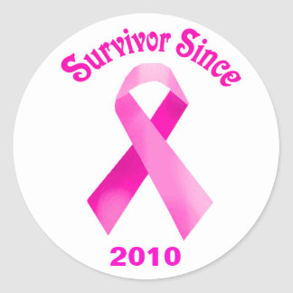 Breast Cancer Pink Ribbon Stickers