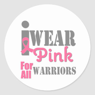 BREAST CANCER PINK RIBBON Warriors Stickers