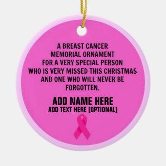 Breast Cancer Poem Memorial Round Ceramic Decoration