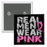 Breast Cancer Real Men Wear Pink 15 Cm Square Badge
