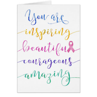 Breast Cancer – Remember Who You Are Card