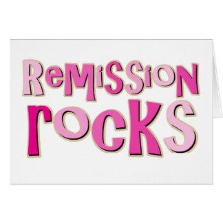 Breast Cancer Remission Rocks Greeting Card